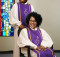Senior African couple wearing church choir gowns
